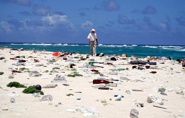 Beautiful???? Laysan Island littered with plastic